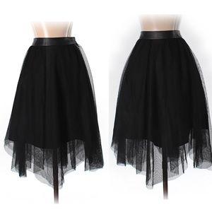Zara black tulle skirt